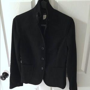 J. Crew Jackets & Coats - J. Crew Wool Black Cashmere coat jacket blazer